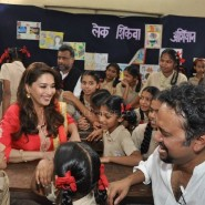 Support My School Gulaab Gang2 185x185 Madhuri Dixit and the cast and crew of Gulaab Gang champion The Support My School Campaign
