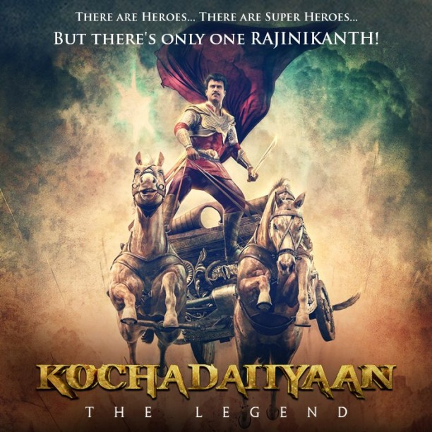 kochadaiiyaan 612x612 Rajinikanths Kochadaiiyaan to release on April 11th!