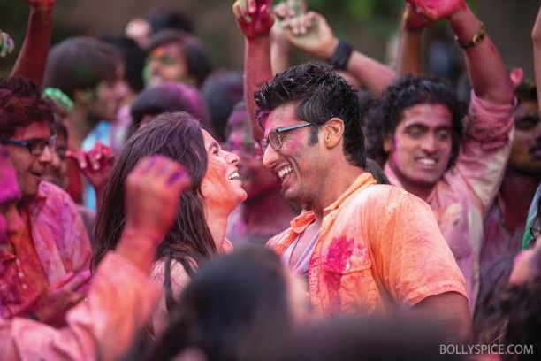 14mar 2statesholi 02 612x408 Alia Bhatt and Arjun Kapoor celebrate Holi in 2 States