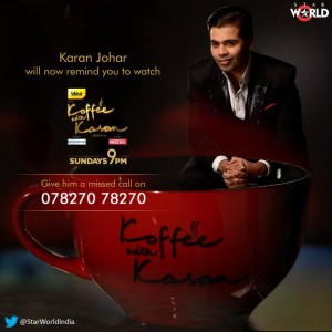 14mar KWK4 No1Show 300x300 Koffee with Karan   the No. 1 watched show for 11 weeks!