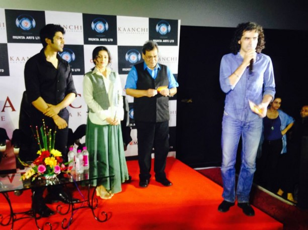 14mar KaanchiTrailerLaunch02 612x458 Imtiaz Ali and Ramesh Taurani attend the trailer launch of Subhash Ghais Kaanchi