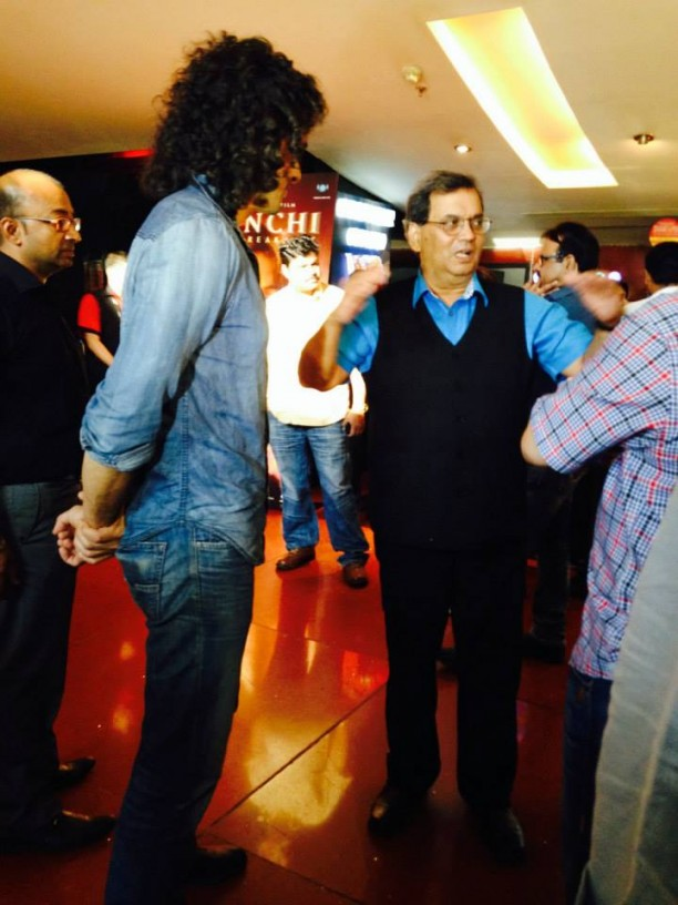 14mar KaanchiTrailerLaunch03 612x816 Imtiaz Ali and Ramesh Taurani attend the trailer launch of Subhash Ghais Kaanchi
