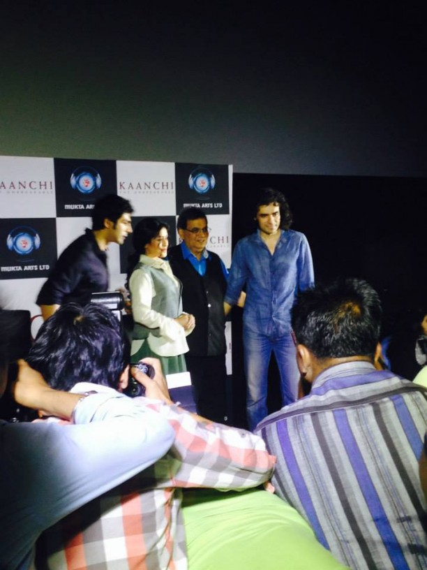 14mar KaanchiTrailerLaunch05 612x816 Imtiaz Ali and Ramesh Taurani attend the trailer launch of Subhash Ghais Kaanchi