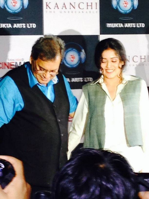 14mar KaanchiTrailerLaunch09 612x816 Imtiaz Ali and Ramesh Taurani attend the trailer launch of Subhash Ghais Kaanchi