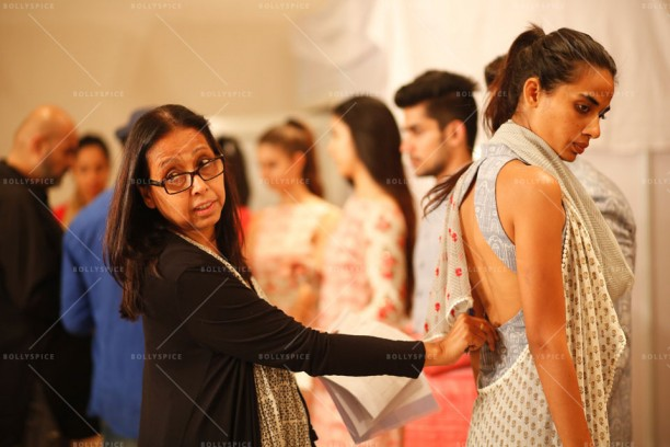 14mar LFWSummer Fitting02 612x408 Lakme Fashion Week Summer 2014 to open with Manish Malhotras collection