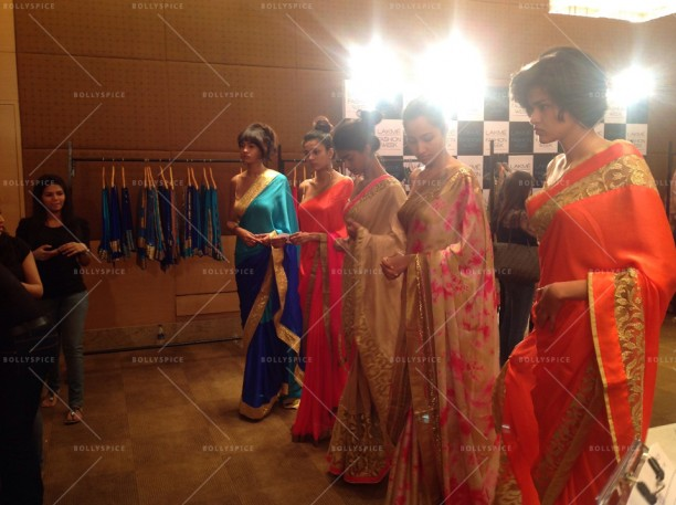 14mar LFWSummer Fitting06A 612x457 Lakme Fashion Week Summer 2014 to open with Manish Malhotras collection