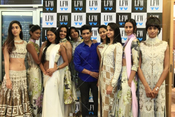 14mar LFWSummer Fitting07 612x408 Lakme Fashion Week Summer 2014 to open with Manish Malhotras collection