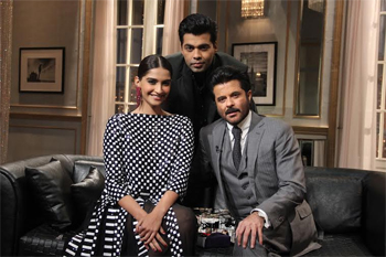 14mar kwkanilsonam Koffee with Karan Preview: Anil Kapoor & Sonam Kapoor