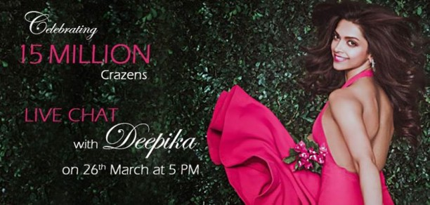 DP Chat 612x292 Deepika Padukone thanks Facebook fans with an exclusive Facebook Chat
