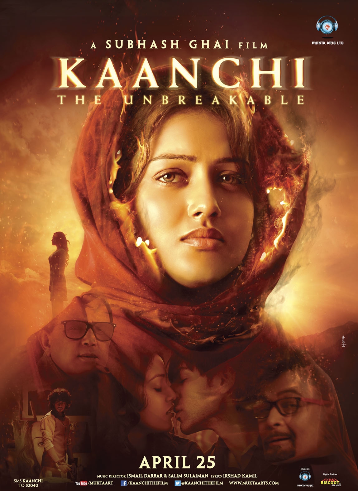 Kaanchi Poster Digital  Subhash Ghai's 'Kaanchi  The Unbreakable'