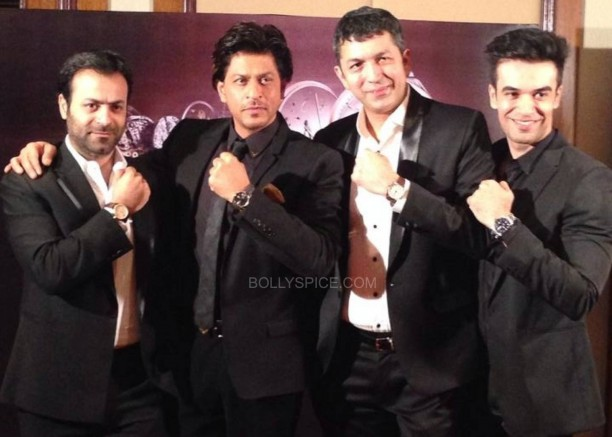 taghauereventsrk7 612x437 Shah Rukh Khan Launches golden TAG Heuer Carrera timepieces in Mumbai