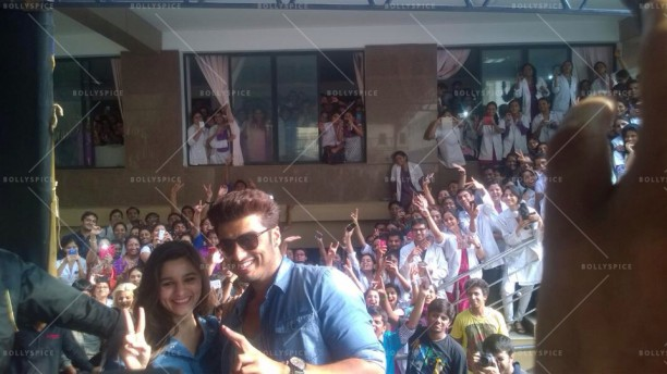 14apr 2StatesDiary1 01 612x344 Photo Diary: Arjun Kapoor and Alia Bhatt promote 2 States