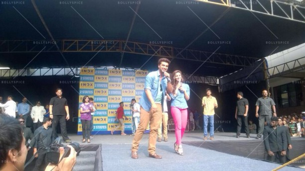 14apr 2StatesDiary1 02 612x344 Photo Diary: Arjun Kapoor and Alia Bhatt promote 2 States