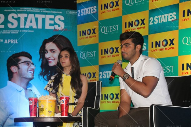 14apr 2StatesDiary2 01 612x408 Photo Diary: Arjun Kapoor and Alia Bhatt promote 2 States