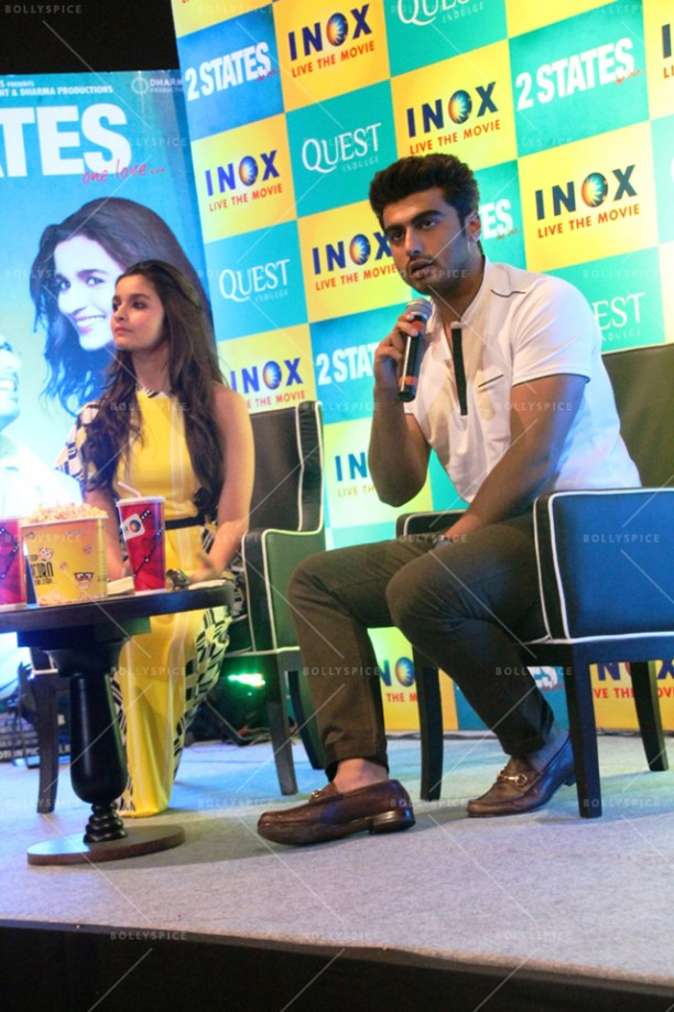 14apr 2StatesDiary2 02 612x918 Photo Diary: Arjun Kapoor and Alia Bhatt promote 2 States