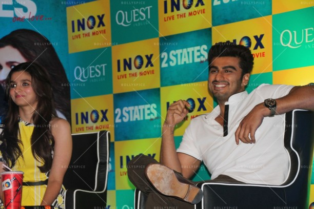 14apr 2StatesDiary2 03 612x408 Photo Diary: Arjun Kapoor and Alia Bhatt promote 2 States