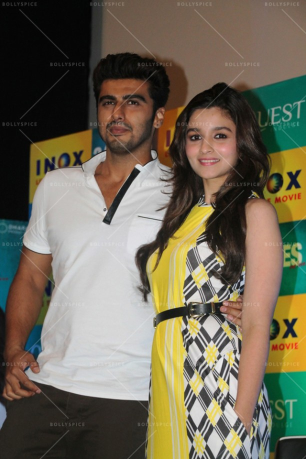 14apr 2StatesDiary2 04 612x918 Photo Diary: Arjun Kapoor and Alia Bhatt promote 2 States