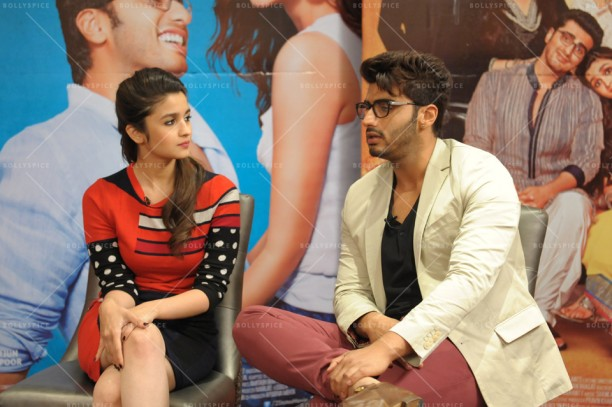 14apr 2StatesIntrvw AliaArjun04 612x407 A BollySpice Exclusive: Alia Bhatt and Arjun Kapoor Speak on 2 States: Bear hugs, girl power and more!