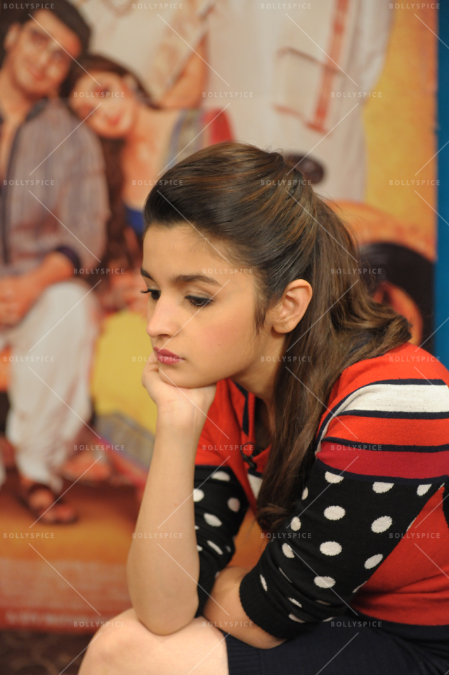 Alia Bhatt at The Courthouse Hotel, London for 2 States promotions. © Hayat Khan