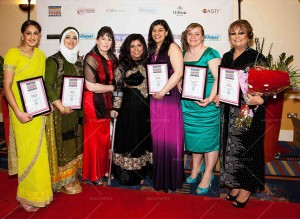 Bradford Inspirational Women of the Year 2014 award winners with event Founder and Host, Fatima Patel