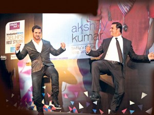 14apr HTStyleAwards AkshayJohn 300x225 Akshay Kumar reunites with John Abraham at the HT Style Awards