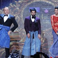 Spacey dances the Lungi dance with actress Padukone and Bollywood actor Kapoor during IIFA 2014 Awards in Tampa