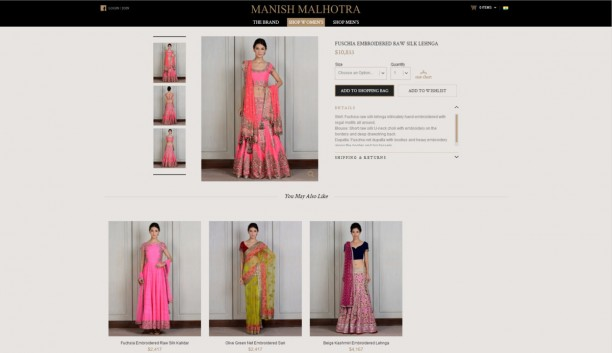 14apr ManishMalhotraWebStore 612x353 Manish Malhotras designs take the global stage!