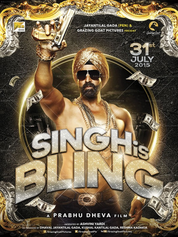 14apr SinghIsBling Poster01 612x816 Get Ready for Akshay Kumar in Singh is Bling