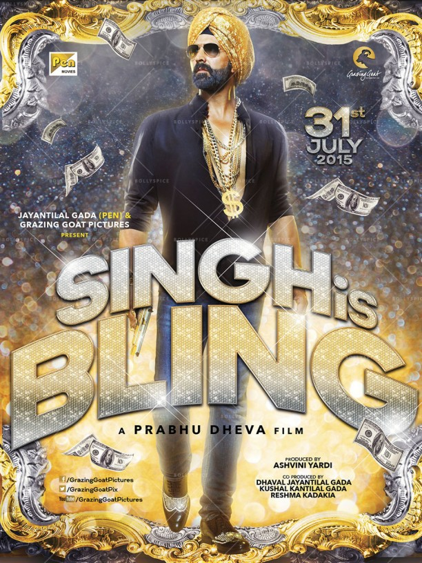 14apr SinghIsBling Poster02 612x816 Get Ready for Akshay Kumar in Singh is Bling