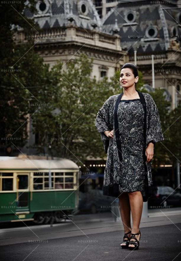 14apr VidyaBalan DimasiIsogawa03 612x882 Vidya Balans stunning photo shoot with Australian designers   Akira Isogawa and Susan Dimasi