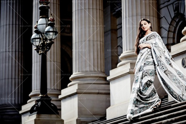 14apr VidyaBalan DimasiIsogawa04 612x408 Vidya Balans stunning photo shoot with Australian designers   Akira Isogawa and Susan Dimasi