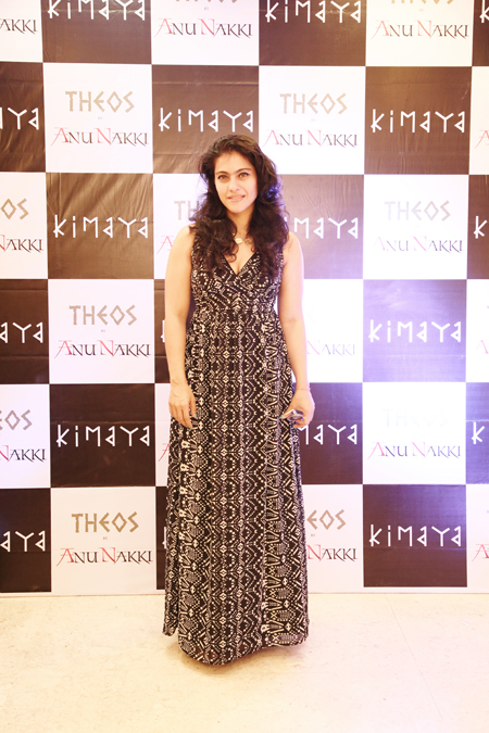 14apr kimayakajol 01 Kajol attends Arhhan and Junaaids THEOS collection launch