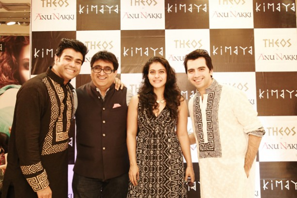 14apr kimayakajol 02 612x408 Kajol attends Arhhan and Junaaids THEOS collection launch