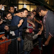 Arjun meeting fans 185x185 Alia Bhatt, Arjun Kapoor and Chetan Bhagat at Cineworld For 2 States