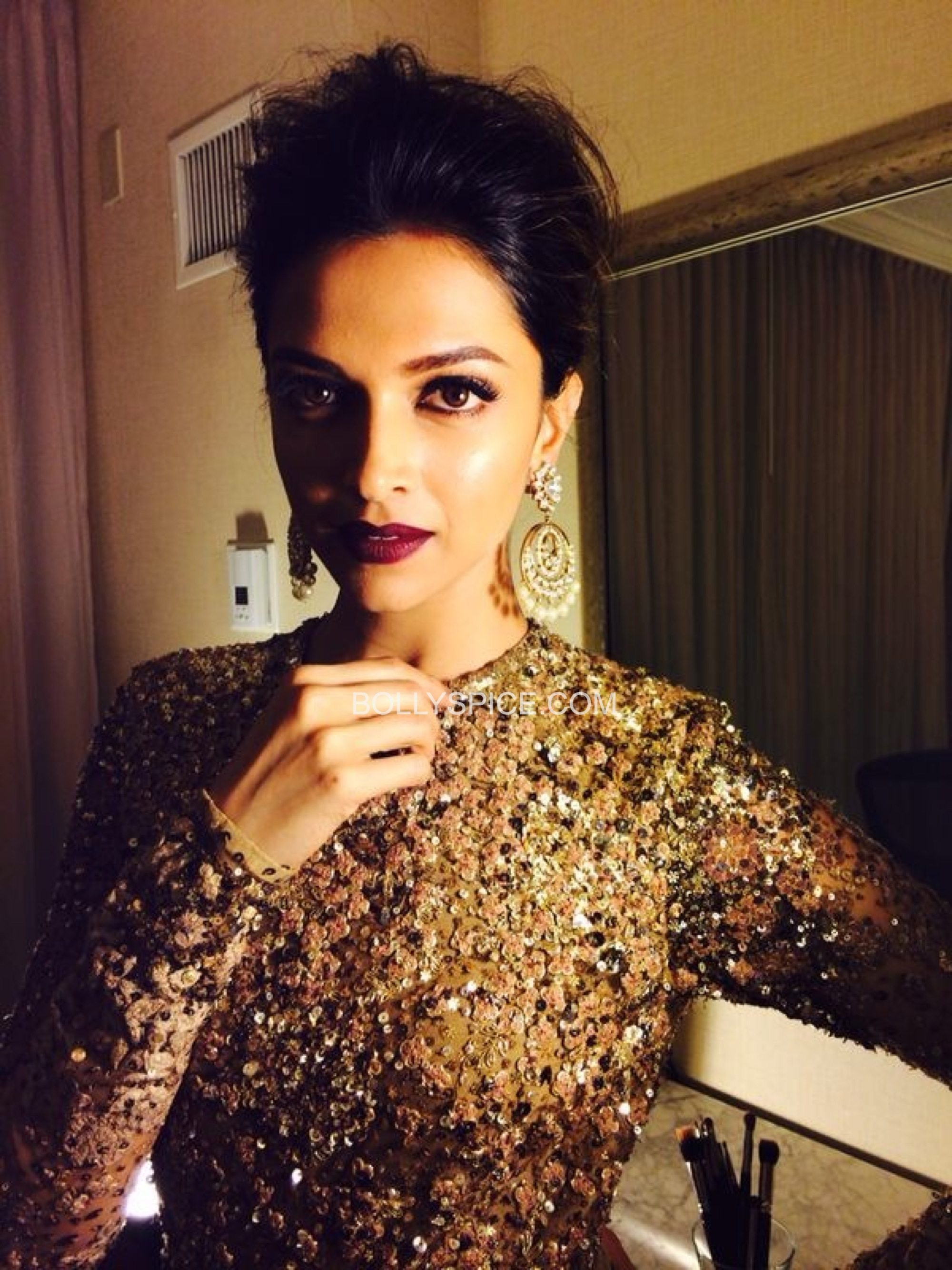 deepikaatiifaexclusive11 Exclusive IIFA Behind the Scenes Pictures of Deepika Padukones Hair and Makeup by Daniel Bauer