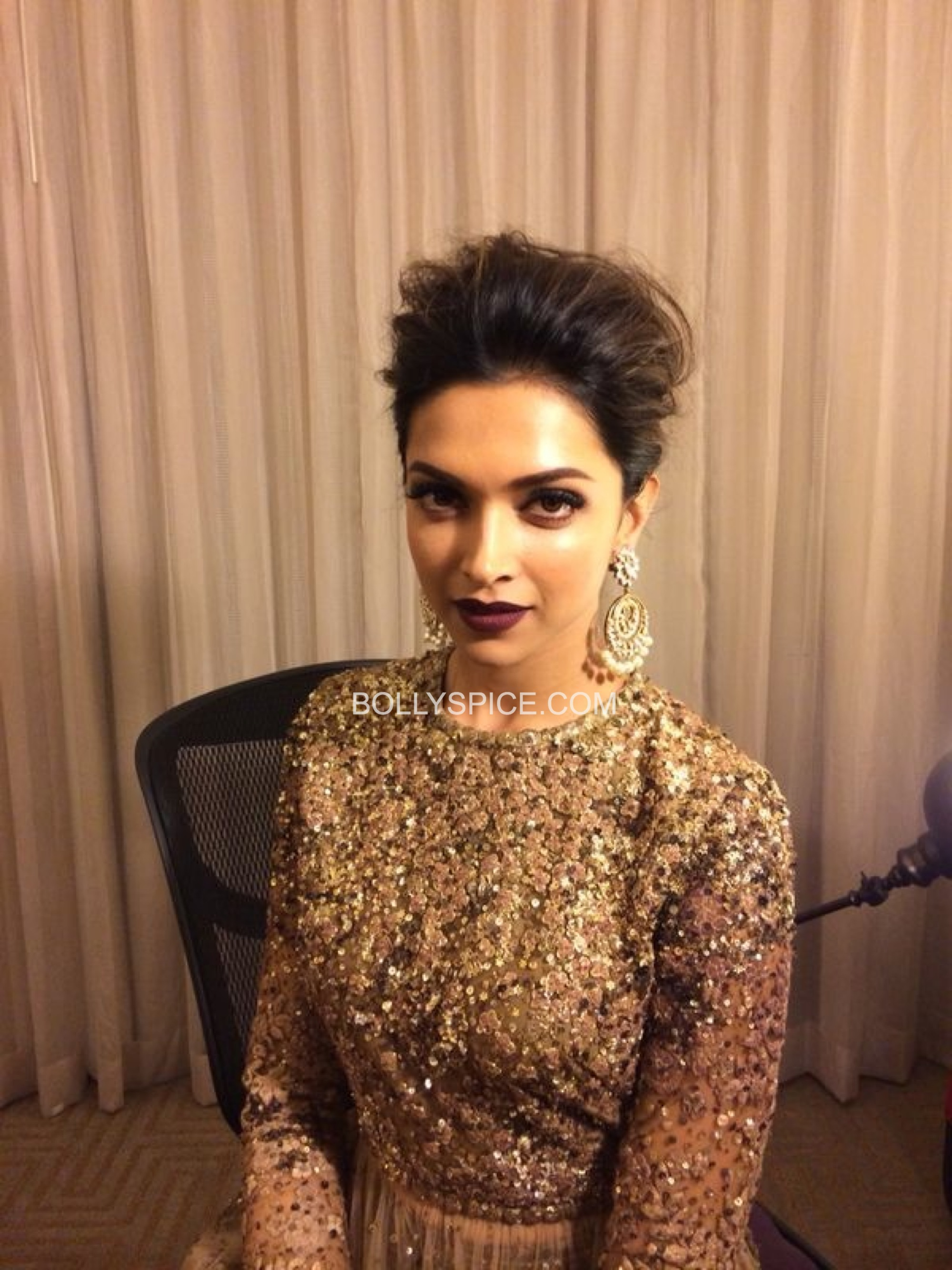 deepikaatiifaexclusive31 Exclusive IIFA Behind the Scenes Pictures of Deepika Padukones Hair and Makeup by Daniel Bauer
