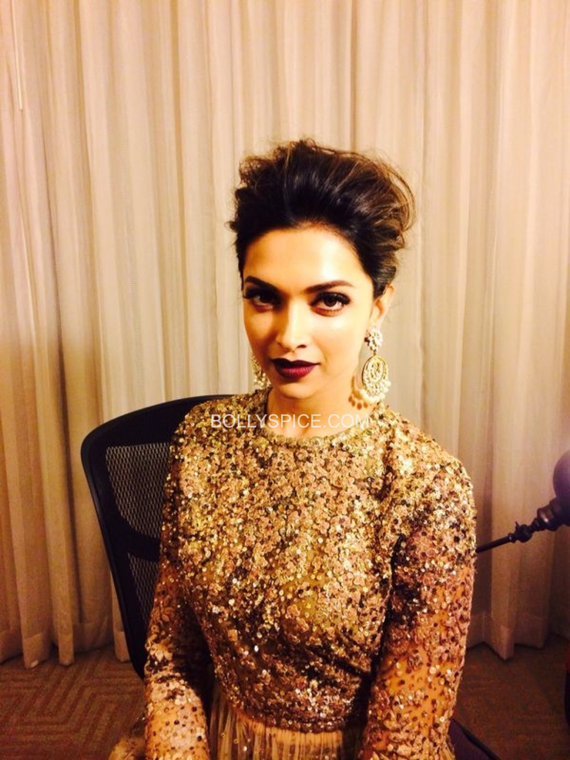 deepikaatiifaexclusive41 Exclusive IIFA Behind the Scenes Pictures of Deepika Padukones Hair and Makeup by Daniel Bauer
