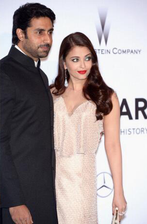 14may CannesAbhiAish amFAR14 Abhishek and Aishwarya at amfARs 21st Cinema Against AIDS Gala in Cannes 2014