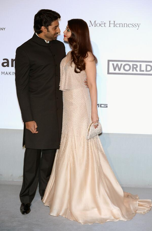 14may CannesAbhiAish amFAR15 Abhishek and Aishwarya at amfARs 21st Cinema Against AIDS Gala in Cannes 2014