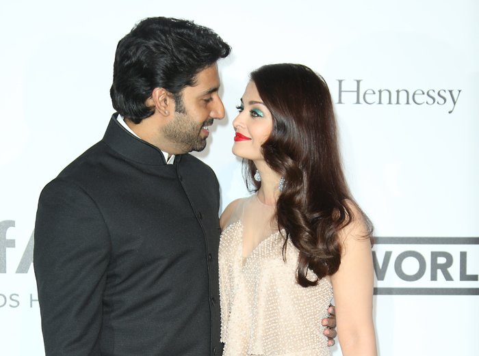 14may CannesAbhiAish amFAR15A Abhishek and Aishwarya at amfARs 21st Cinema Against AIDS Gala in Cannes 2014