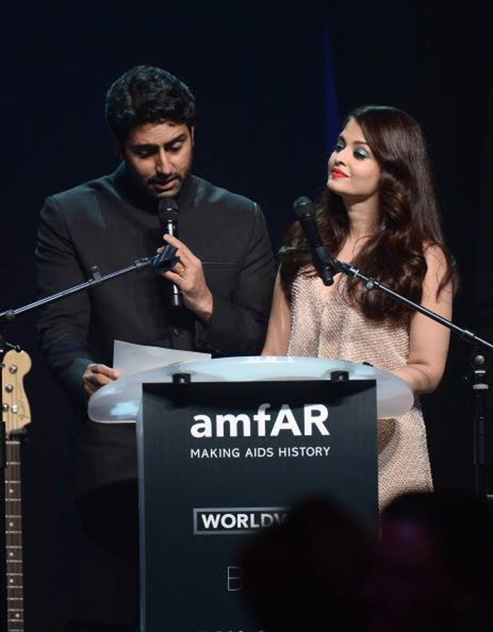 14may CannesAbhiAish amFAR16 Abhishek and Aishwarya at amfARs 21st Cinema Against AIDS Gala in Cannes 2014