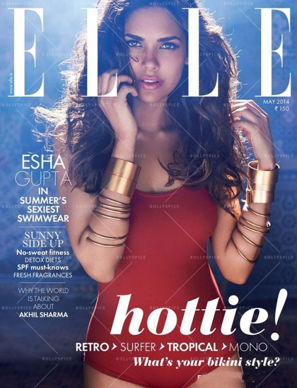14may EshaGupta Elle May01 612x799 Esha Guptas photoshoot for the May 2014 edition of the ELLE India magazine!