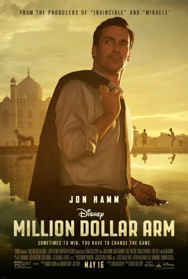 14may MillionDollarArm Poster 612x906 A Million Dollar Story