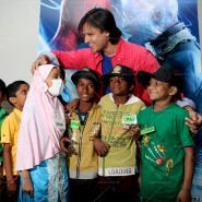 14may VivekSpidermanCancerScreening09 185x185 Vivek Oberoi at the screening of the Amazing Spider Man 2 for cancer patients