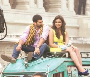 14may daawateishq Daawat e Ishq shoots a sequence in Ambedkar Park in Uttar Pradesh