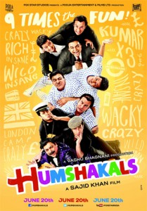14may humshakalsmusic 209x300 Box Office   Humshakals is a biggie for Sajid, Saif, Riteish