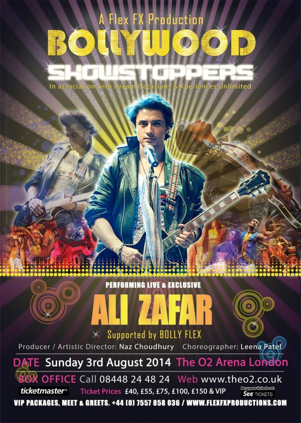 bollywoodshowstoppersposter2 612x860 Get Ready! Shahid, Sonakshi, Ali, Jacqueline and Mika are coming to the O2 for Bollywood Showstoppers