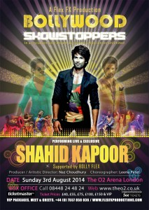 bollywoodshowstoppersposter4 213x300 Win a chance to dance with Shahid Kapoor at the Bollywood Showstoppers concert