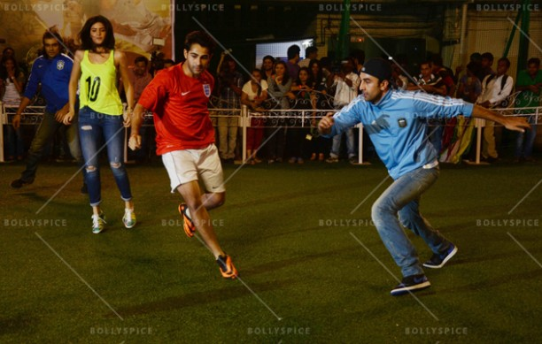 14jun ranbirfootball 02 612x389 Armaan and Ranbir come together to celebrate the football fever!!