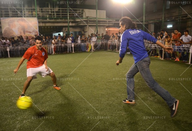 14jun ranbirfootball 04 612x417 Armaan and Ranbir come together to celebrate the football fever!!